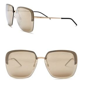 Emporio Armani Geo 62mm Oversized Sunglasses